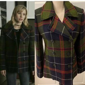Veronica Mars J.Crew Andover Plaid Pea Coat